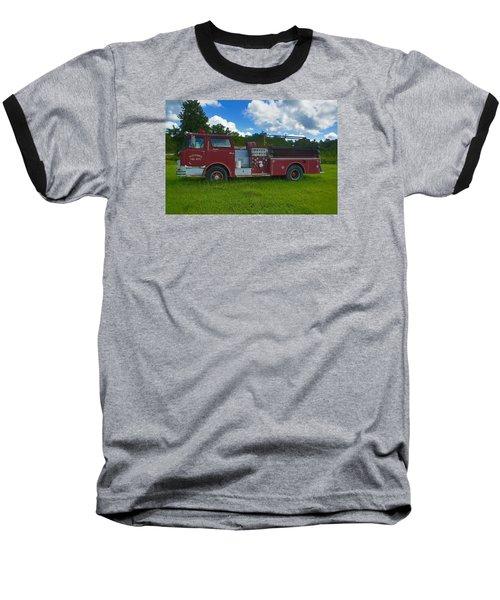 Antique Fire Truck Baseball T-Shirt