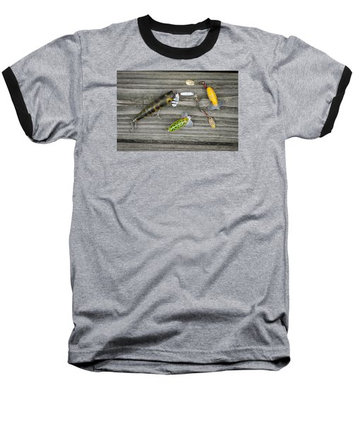 Antique Fishing Lures Baseball T-Shirt