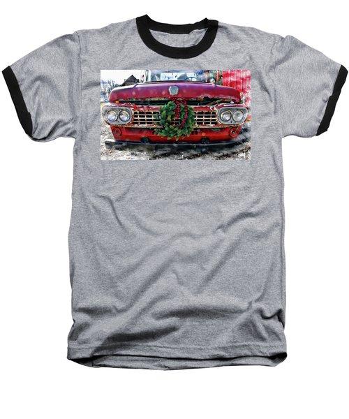 Antique Ford Christmas Baseball T-Shirt