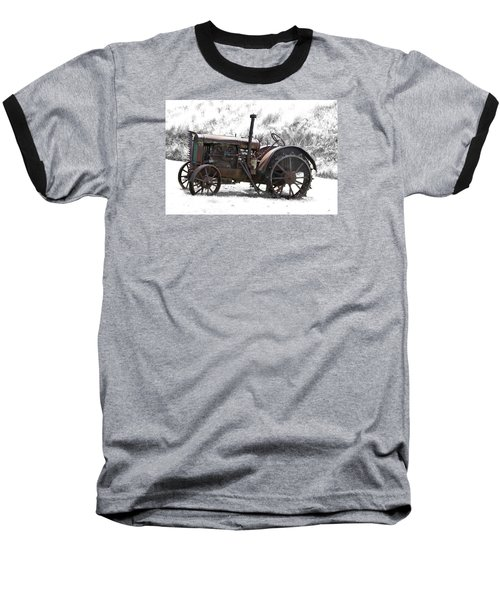 Antique Iron Horse Baseball T-Shirt by Kathy M Krause