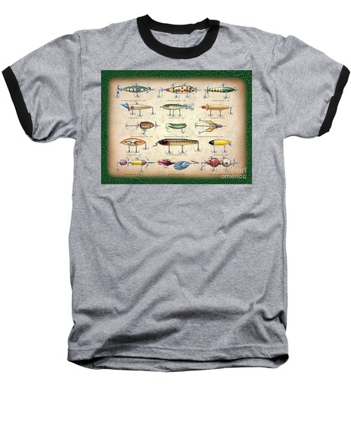 Antique Lures Panel Baseball T-Shirt