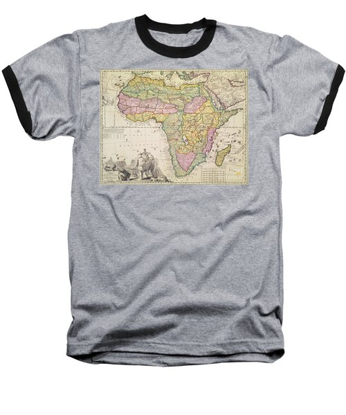 Antique Map Of Africa Baseball T-Shirt by Pieter Schenk