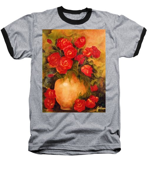 Antique Red Roses Baseball T-Shirt