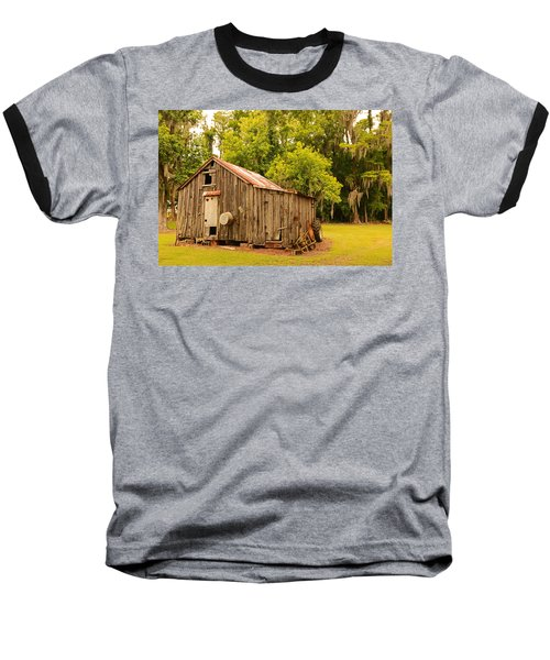 Antique Shed Baseball T-Shirt by Ronald Olivier