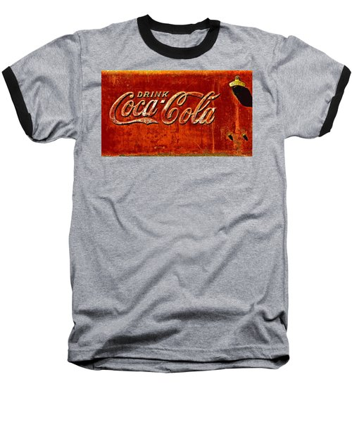 Antique Soda Cooler 3 Baseball T-Shirt by Stephen Anderson