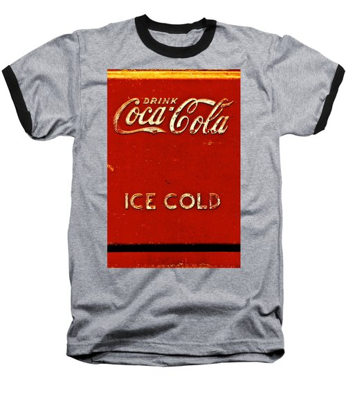 Antique Soda Cooler 6 Baseball T-Shirt by Stephen Anderson