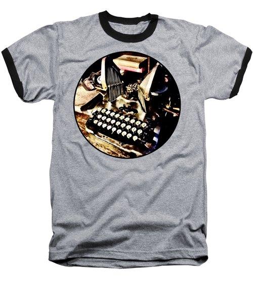 Antique Typewriter Oliver #9 Baseball T-Shirt