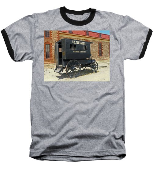 Antique U.s Marshalls Wagon Baseball T-Shirt by Sally Weigand