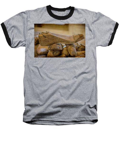 Antique Wooden Shoe Forms - 2 Baseball T-Shirt