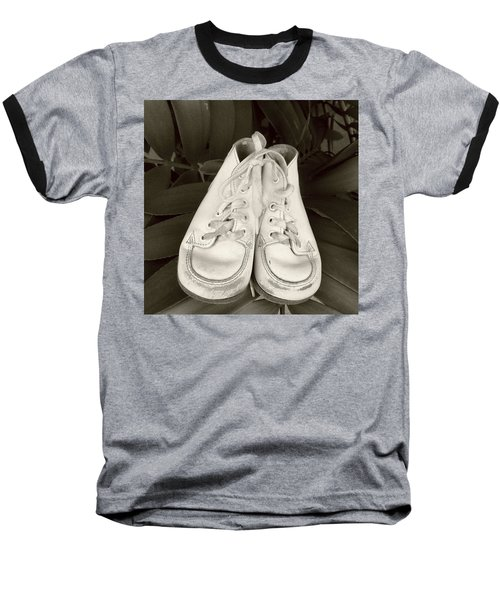 Antiqued Baby Shoes Baseball T-Shirt