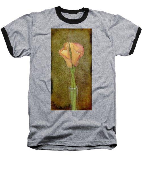 Antiqued Lilies Baseball T-Shirt