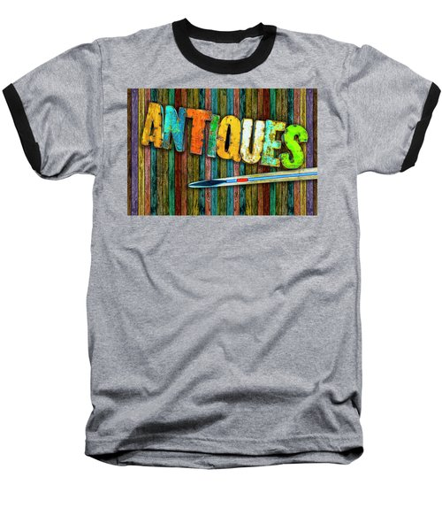 Baseball T-Shirt featuring the photograph Antiques by Paul Wear