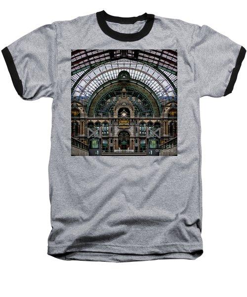 Antwerp Train Terminal Baseball T-Shirt