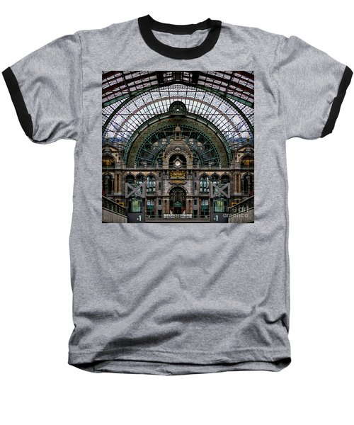 Antwerp Train Terminal Baseball T-Shirt