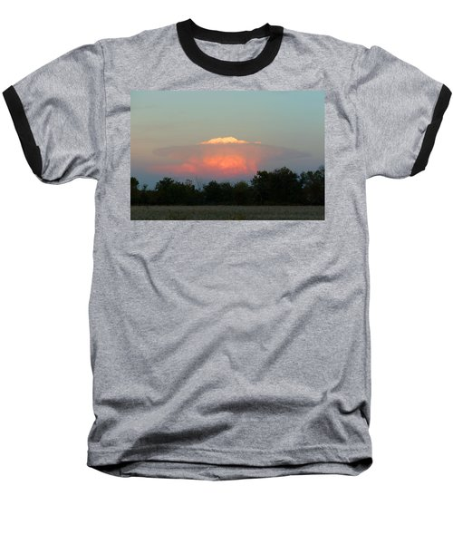 Anvil Cloud Over Kirksville, Mo Baseball T-Shirt by Jana Russon