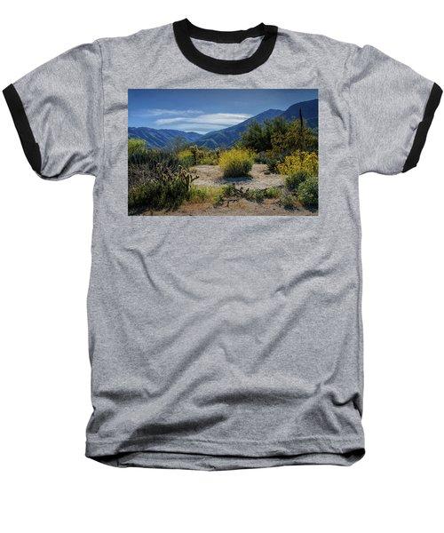 Baseball T-Shirt featuring the photograph Anza-borrego Desert State Park Desert Flowers by Randall Nyhof