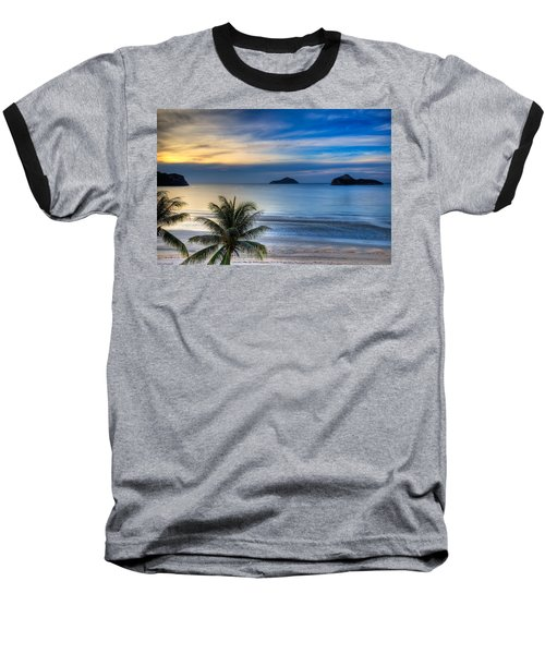 Ao Manao Bay Baseball T-Shirt by Adrian Evans