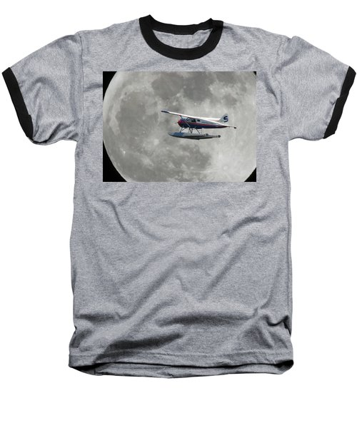 Aop And The Full Moon Baseball T-Shirt by Mark Alan Perry