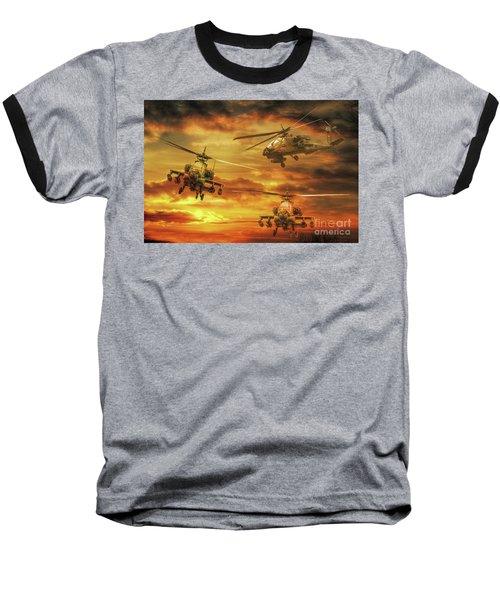Apache Attack Baseball T-Shirt