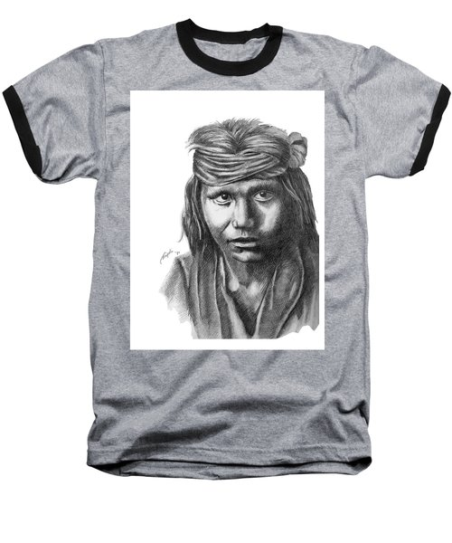 Apache Boy Baseball T-Shirt by Lawrence Tripoli