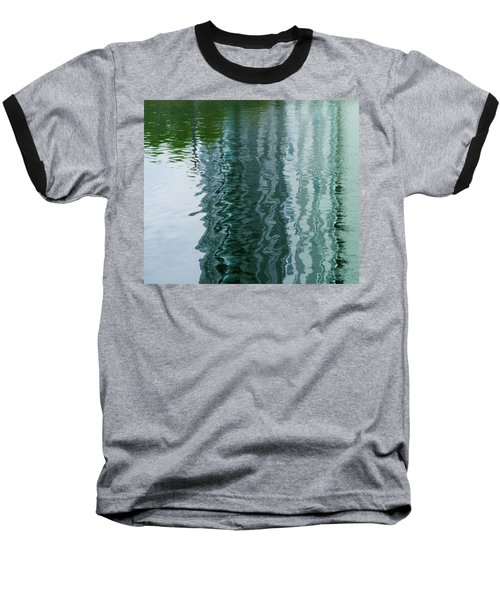 Apartment Building Reflection, Confluence Park, Denver, Colorado Baseball T-Shirt
