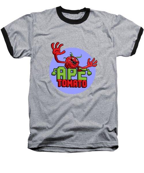 Ape Tomato Blue Purple Baseball T-Shirt by Nicolas Palmer