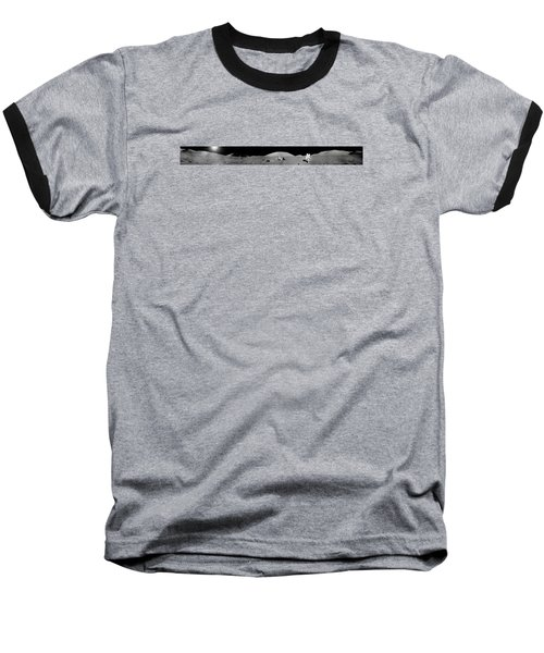 Apollo 17 Moon Panorama Baseball T-Shirt