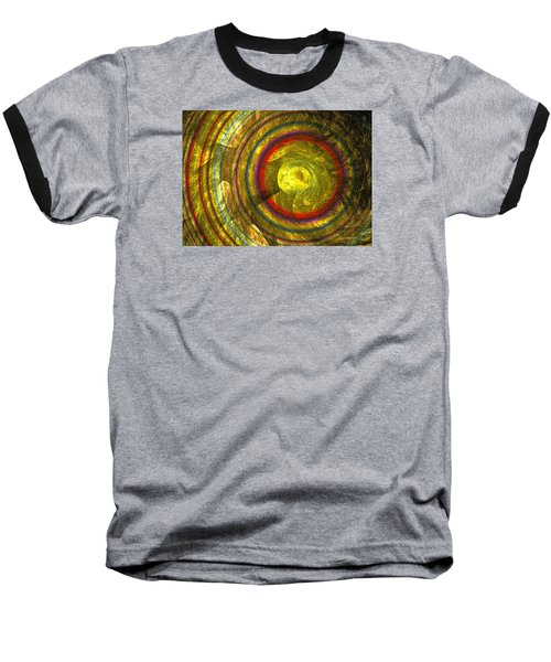Baseball T-Shirt featuring the digital art Apollo - Abstract Art by Sipo Liimatainen