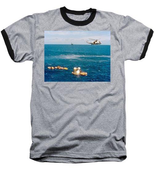 Apollo Command Module Splashdown Baseball T-Shirt