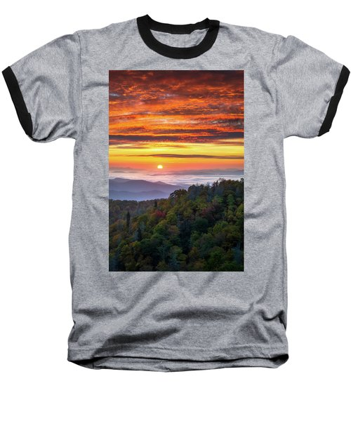 Appalachian Mountains Asheville North Carolina Blue Ridge Parkway Nc Scenic Landscape Baseball T-Shirt