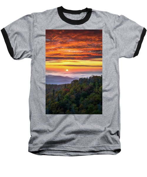 Appalachian Mountains Asheville North Carolina Blue Ridge Parkway Nc Scenic Landscape Baseball T-Shirt