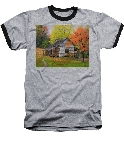 Baseball T-Shirt featuring the painting Appalachian Retreat-autumn by Kyle Wood