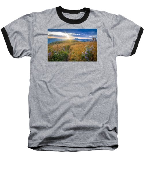 Baseball T-Shirt featuring the photograph Appalachian Sunrise by Serge Skiba
