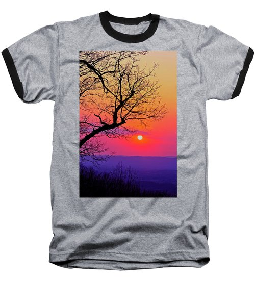 Appalcahian Sunset Tree Silhouette #2 Baseball T-Shirt
