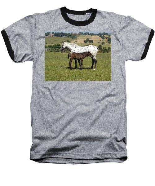 Appaloosa Mare And Foal Baseball T-Shirt