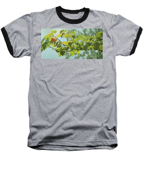 Baseball T-Shirt featuring the painting Apple A Day by Karen Ilari