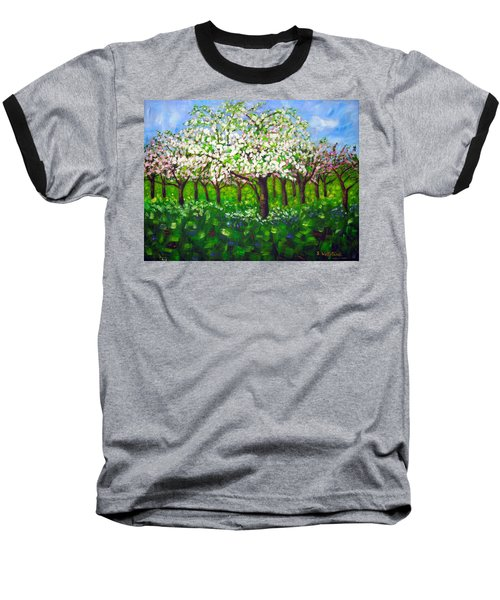 Apple Blossom Orchard Baseball T-Shirt
