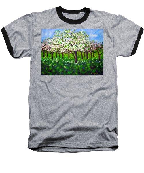 Apple Blossom Orchard Baseball T-Shirt