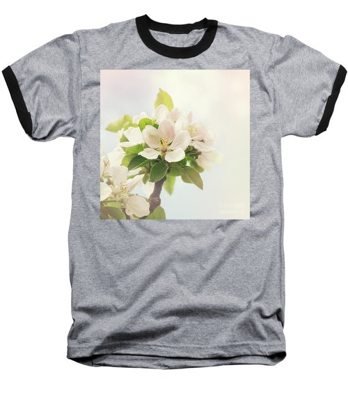 Apple Blossom Retro Style Processing Baseball T-Shirt