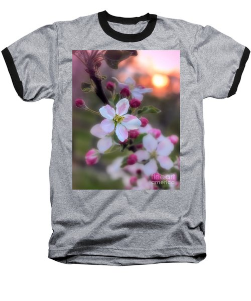 Baseball T-Shirt featuring the photograph Apple Blossom Sunrise by Henry Kowalski