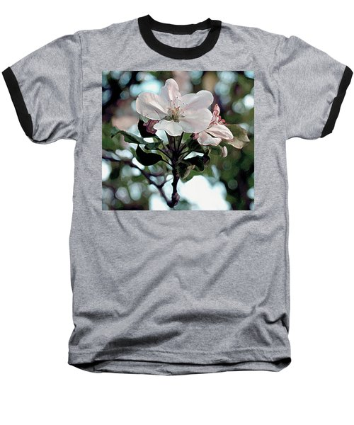 Baseball T-Shirt featuring the painting Apple Blossom Time by RC deWinter