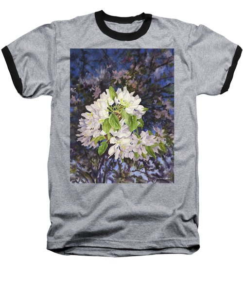 Apple Blossoms At Dusk Baseball T-Shirt by Anne Gifford