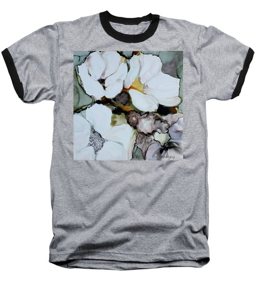 Baseball T-Shirt featuring the painting Apple Blossoms by Joanne Smoley