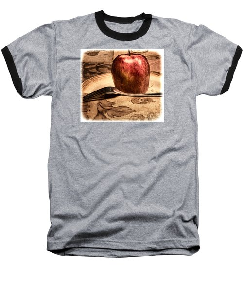 Apple Baseball T-Shirt by Lawrence Burry