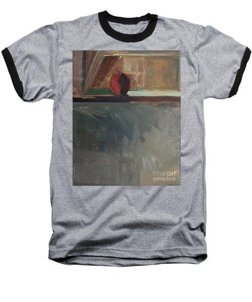 Apple On A Sill Baseball T-Shirt by Daun Soden-Greene