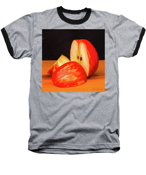 Apple Study 01 Baseball T-Shirt by Wally Hampton