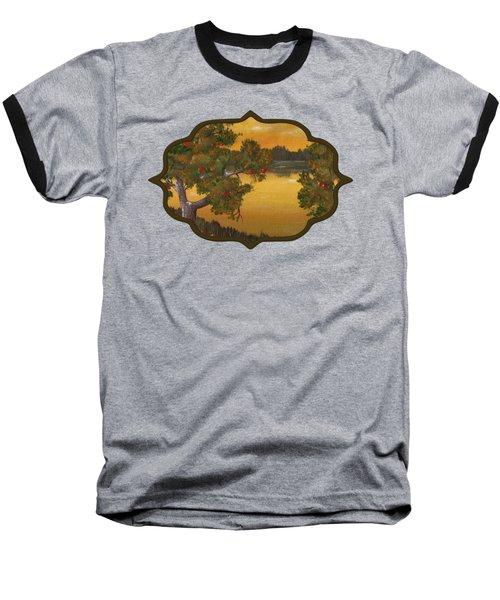 Apple Sunset Baseball T-Shirt