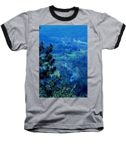 Baseball T-Shirt featuring the photograph Applegate River From On Top Of Bolt Mountain by Marie Neder