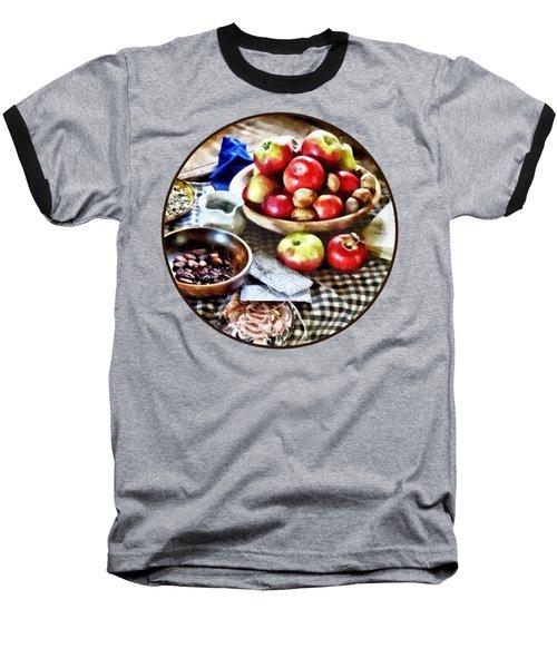 Apples And Nuts Baseball T-Shirt