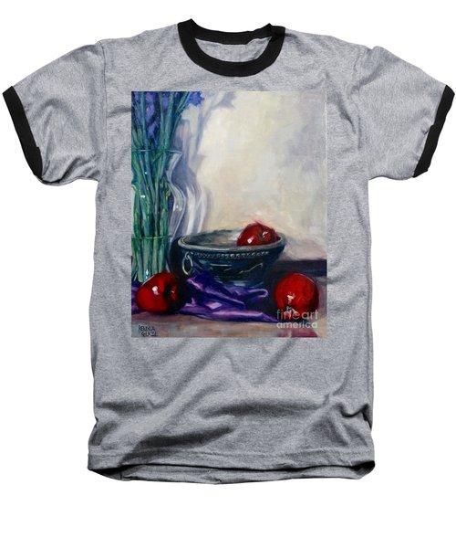 Apples And Silk Baseball T-Shirt by Rebecca Glaze